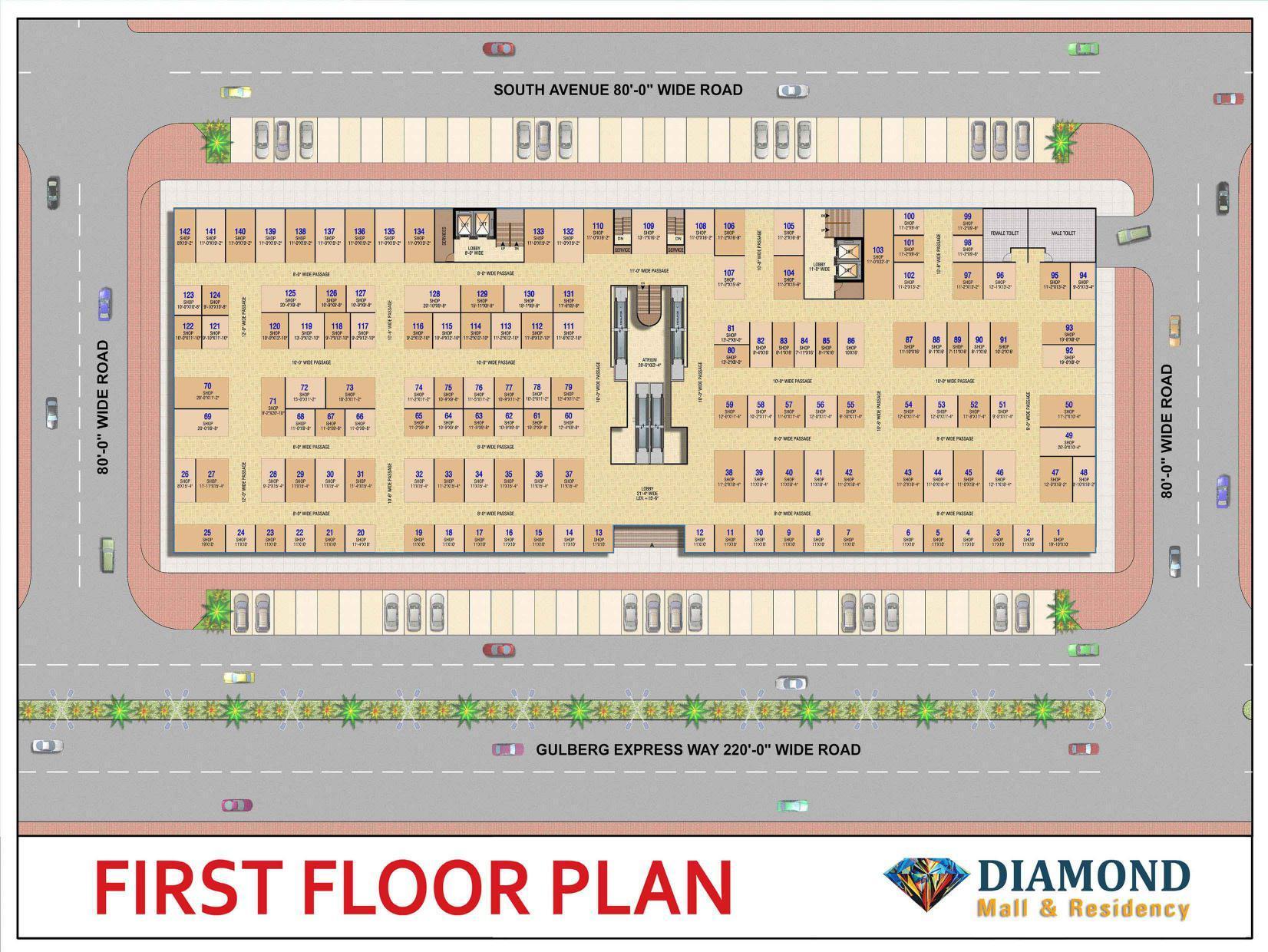 Diamond Mall 1st floor plan